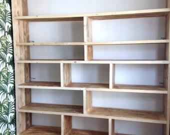 Urban Storage   Bespoke Industrial Shelving   Natural Reclaimed Wood Bookcase   Storage Unit   Large Furniture Storage