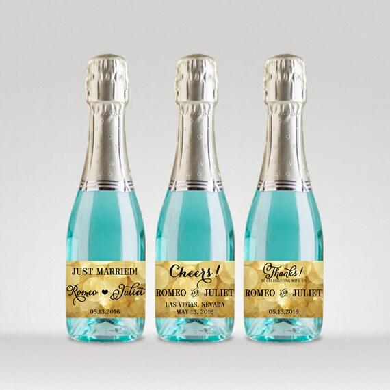 Wedding Engagement Wine Label Pdf: Items Similar To Party Favor Champagne Bottle Labels