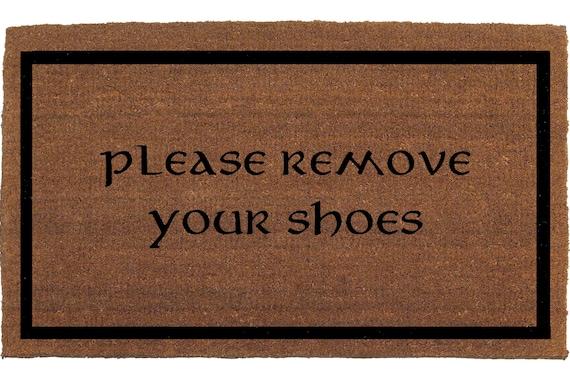 Please remove your shoes door mat coir doormat by franklinandfigg - Remove shoes doormat ...
