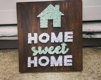 Home Sweet Home String Art, custom home decor, home sweet home, wall decor, gallery wall