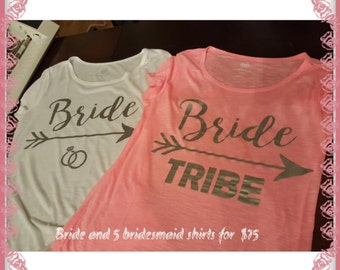 Bride/Bride Tribe Tops- handmade shirts