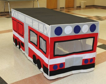 Made to order Fire Truck Tablecloth Fort