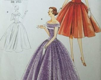 Vintage Vogue dress pattern/original 1955 design/uncut new pattern Mad Men Style