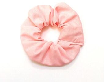 Plain Pale Pink Scrunchie