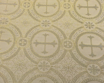 Metallic Brocade with Crosses