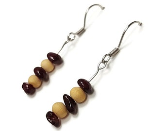 Simple jewelry garnet, nature jewelry, garnet earrings, simple earrings, nature earrings, red earring red stone jewelry stone earring ayin