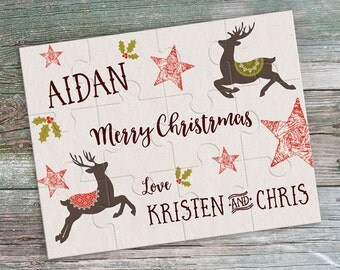 Christmas Puzzle - Christmas Card - Merry Christmas - Personalized Christmas Greetings - Personalized Puzzle - Christmas Gift - Holiday Gift