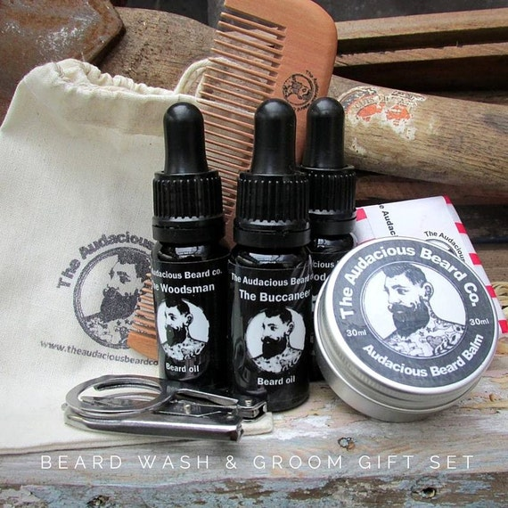 beard wash groom gift set the audacious beard co. Black Bedroom Furniture Sets. Home Design Ideas