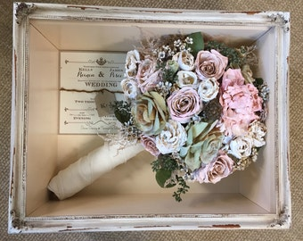 Floral Preservation for Wedding Bouquets in Shadow Box (Local NY/Long Island Area Only - Will Not Ship)