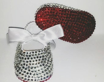 Bedazzled Bling Baby Shoes - Red Bottoms