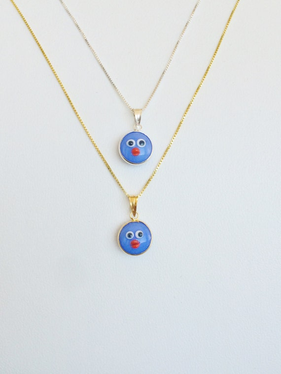 blue kids necklace, eye necklace, kids charm necklace, blue eye, evil eye, tiny necklace, minimalist necklace, lucky necklace