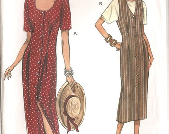 Vogue Pattern 8581: Misses' Dress, Jumper and Top. Sizes 14, 16, 18.