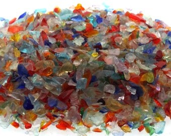 100 gms Assorted Colours Mix Andara Crystal Chips For Crafts