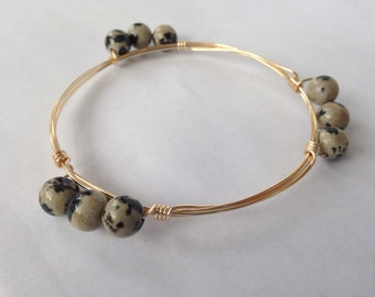 Black Spotted Bangle