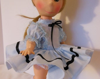 "Blue Party Dress for 11"" Horsman Poor Pitiful Pearl Dolls"