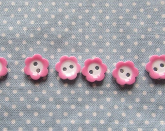 Pink and White Flower Buttons