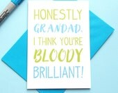 Grandad Card, Grandad Birthday Card, Grandpa Card, Birthday Card for Granddad, Grandpa Birthday, Grandad Fathers Day Card, Grandparents Day