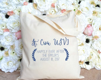 St Croix USVI Destination Wedding Welcome Tote