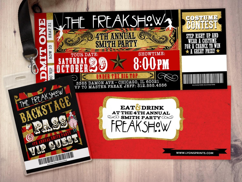 Freak show, Halloween invite, Halloween party, Halloween ...