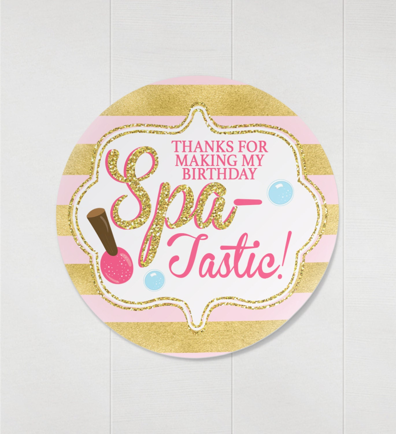 Spa favor tags spa party invitation vip pass backstage pass spa favor tags spa party invitation vip pass backstage pass vip invitation birthday invitation lanyard nail polish spa tastic stopboris Image collections
