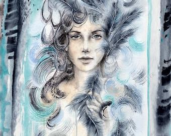 Be the No.1 - fantasy art print - 21x29cm fine art print, Giclée