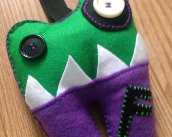 Monster toothfairy  cushion / pillow