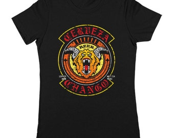 Cerveza Chango Beer Company Funny Humor Dusk Till Dawn Horror Movie Women's Jr Fit T-Shirt DT1461