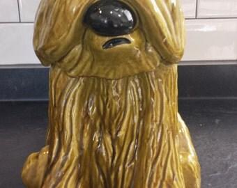 SALE Vintage Green Shaggy Dog cookie jar Doranne of California