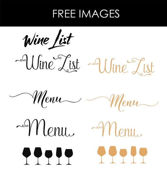 drink menu template microsoft word