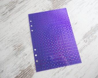 A5 dashboard sparkling purple