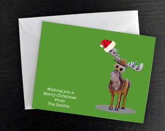 Christmas Card, Holiday Card, Canadian Christmas Cards, Canadiana Card Set, Holiday Cards, Christmas Card Set, Holiday Card Set, Moose