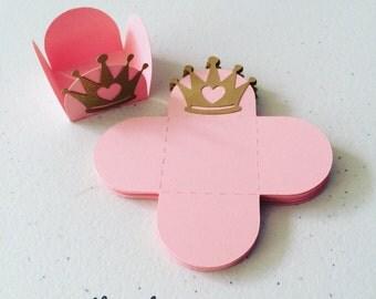 Princess square candy cup,bonbon holders, forminhas, brigadeiros (24 units)