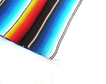 serape blanket mexican serape blanket bohemian style blanket multicolor striped mexican blanket