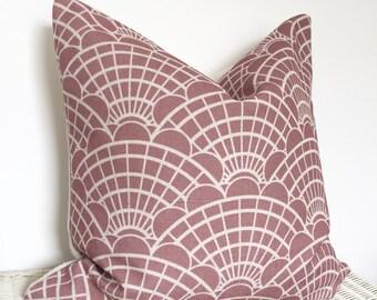Dusky berry geometric cushion dusky berry shells cushion cover