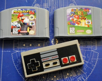 N64 Cart and retro Controller Parody Soaps: Retro and geeky! Handmade parody cartridge controller soap - Mario