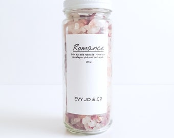 Bath Salts (ROMANCE) - Dead Sea Salt, Himalayan Bath Salt, Bath Salt, Bath Soak, Salts & Scrubs, Bath Gift, Gift For Her, Spa and Relaxation
