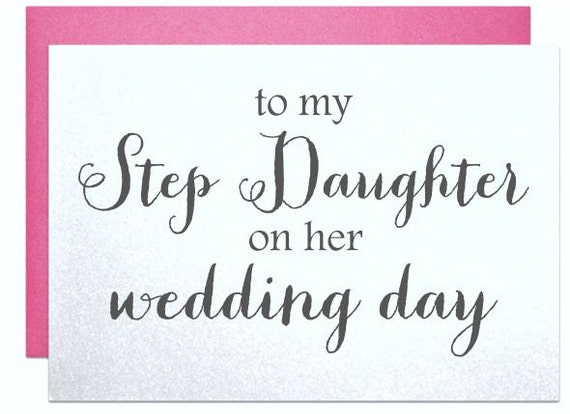 Wedding card to step daughter, bridal shower cards for step daughter ...