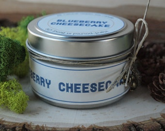 40% Sale | Blueberry Cheesecake | Scented Soy Candle | Vegan + Eco-Friendly | 4 oz, 6 oz, 8 oz