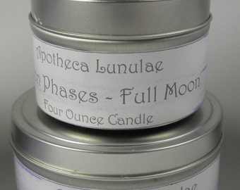 Full Moon Phase Ritual Soy Candle