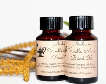 Beard Oil, Vanilla Musk Beard Oil, Mens Gift, Gift For Him, Almond Rice Bran Hemp Seed Oils, Valentine For Him, VANILLA MUSK BEARD Oil