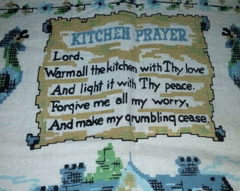 1992 Printed Sack Cloth Calendar Kitchen Towel