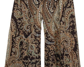 Brown Black Summer Lounge Pants