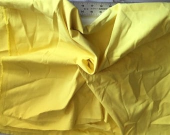 Cotton Stretch Twill in Lemon Yellow, an amazing weight and feel, Sold by the yard, 54 inches wide