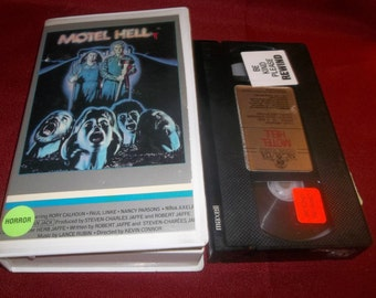 MOTEL HELL Vhs Horror Movie Video Cannibals, Pig Heads, Chainsaws, Human Sausage Meat,