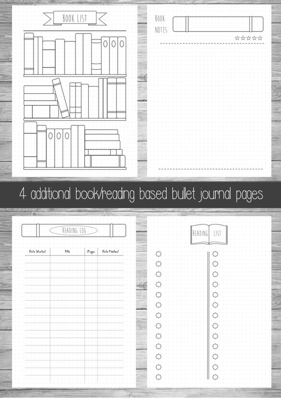 Persnickety image with regard to free printable bullet journal pages