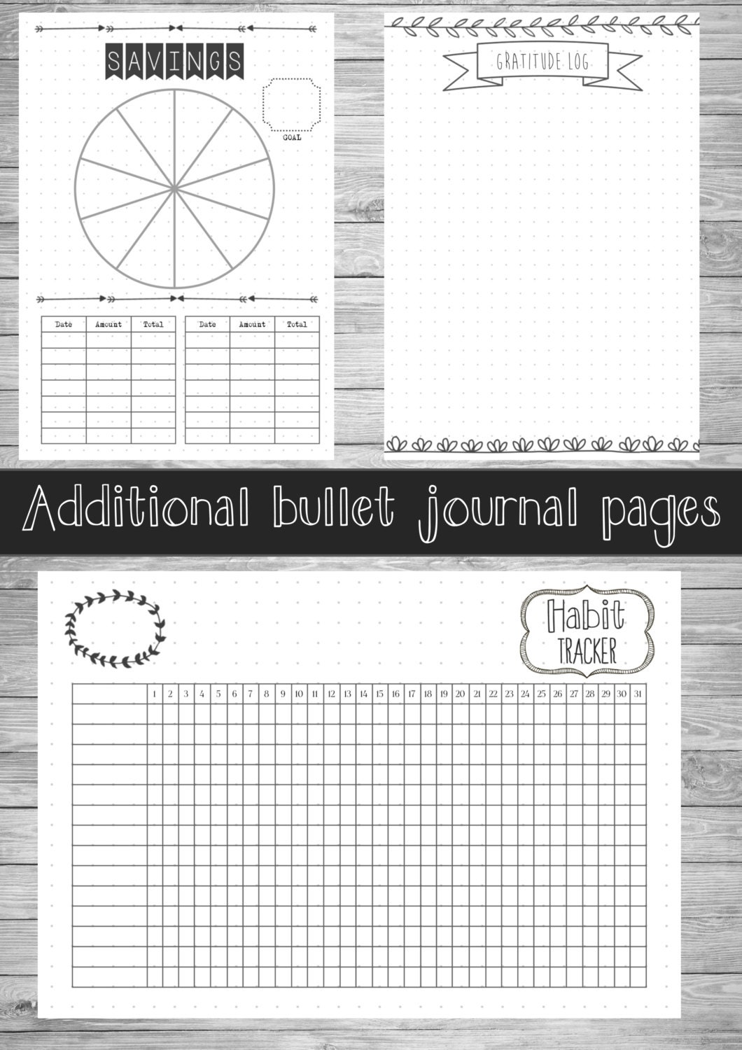 Ridiculous image inside printable bullet journal pages