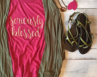 Seriously Blessed KeepsakeTee. Women's Classic Fit