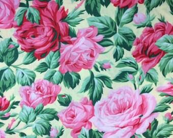FreeSpirit - SNAPSHOT (ROSE GARDEN - Butter) 100% Cotton Premium Fabric - sold by 1/2 yard
