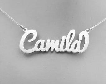 Cursive Name Necklace (Sterling Silver)