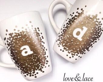 Custom Initials Coffee Mug, Custom Coffee Mug, Initials Mug, Letter Mug, Custom Mug, Initial Coffee Mug, Letter Coffee Mug, Painted Mug